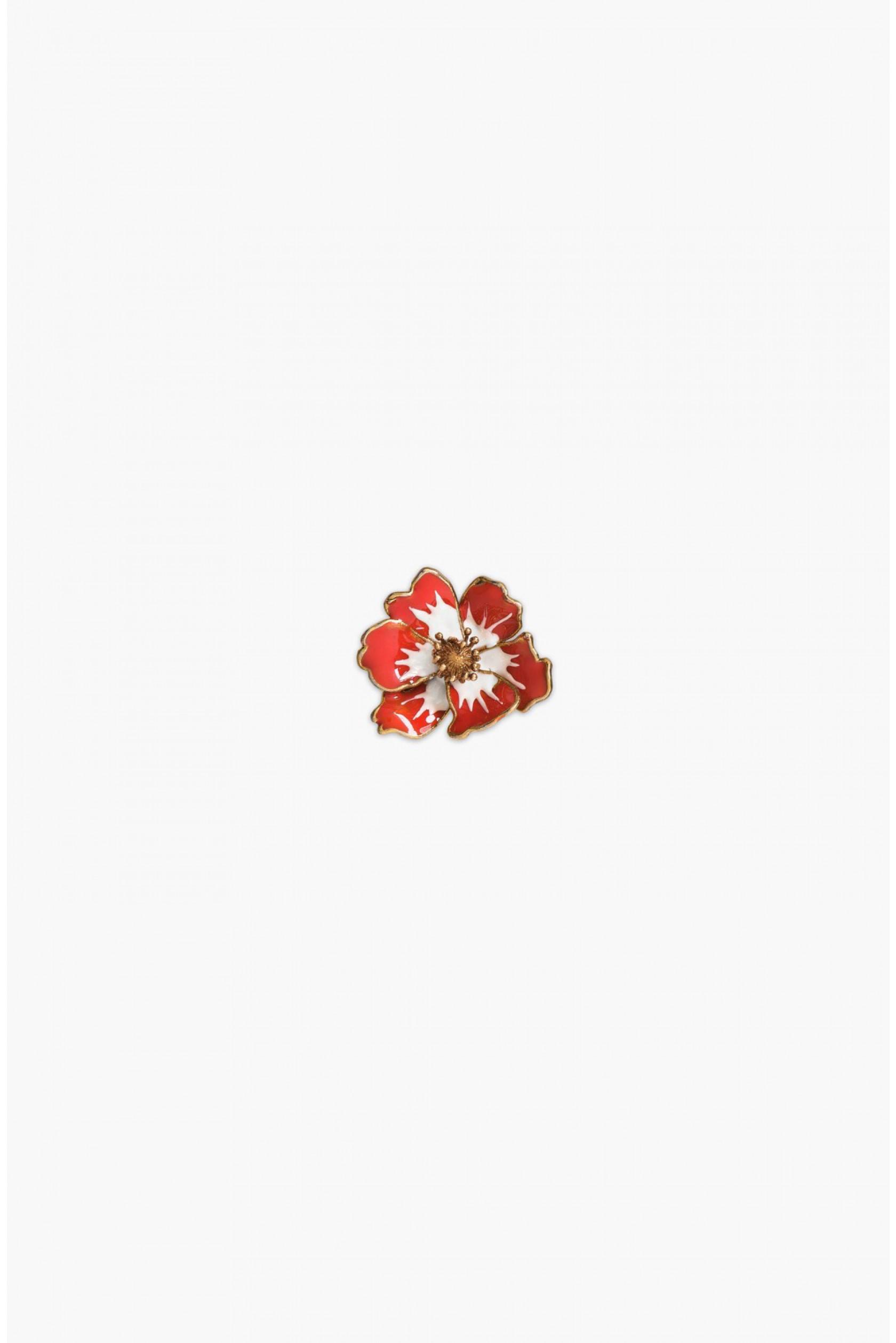 Sonia Rykiel rhinstone anemone pins - Red 4AfR39i3