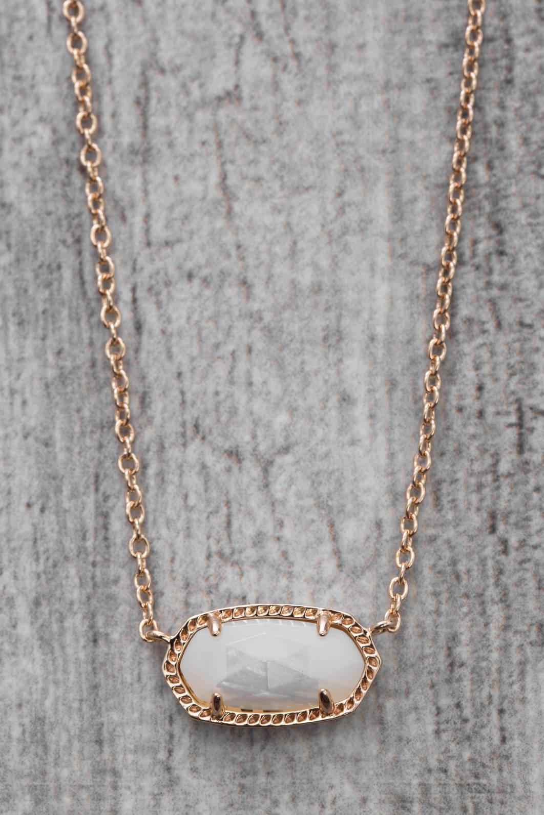 b57dc90025f2e d.RA Pink Ken Scott Elisa Rose Gold Ivory Mother Of Pearl Necklace