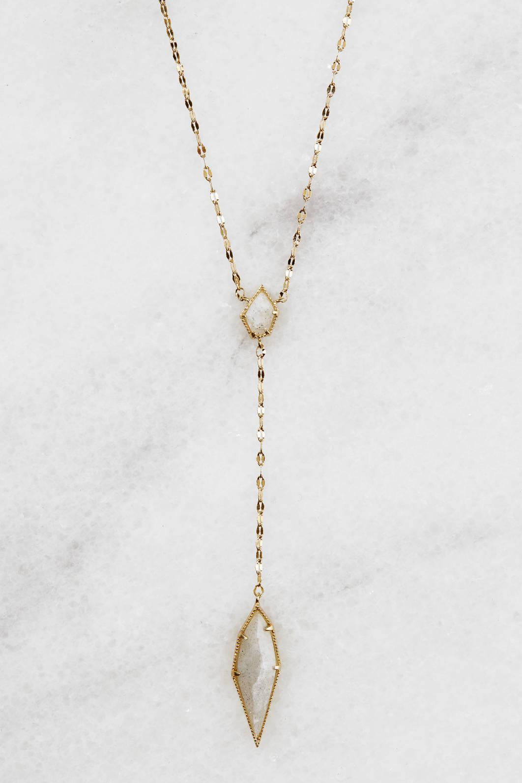 Tai Jewelry Gold Chain Necklace With Labradorite Gold kvnpHMfY6D