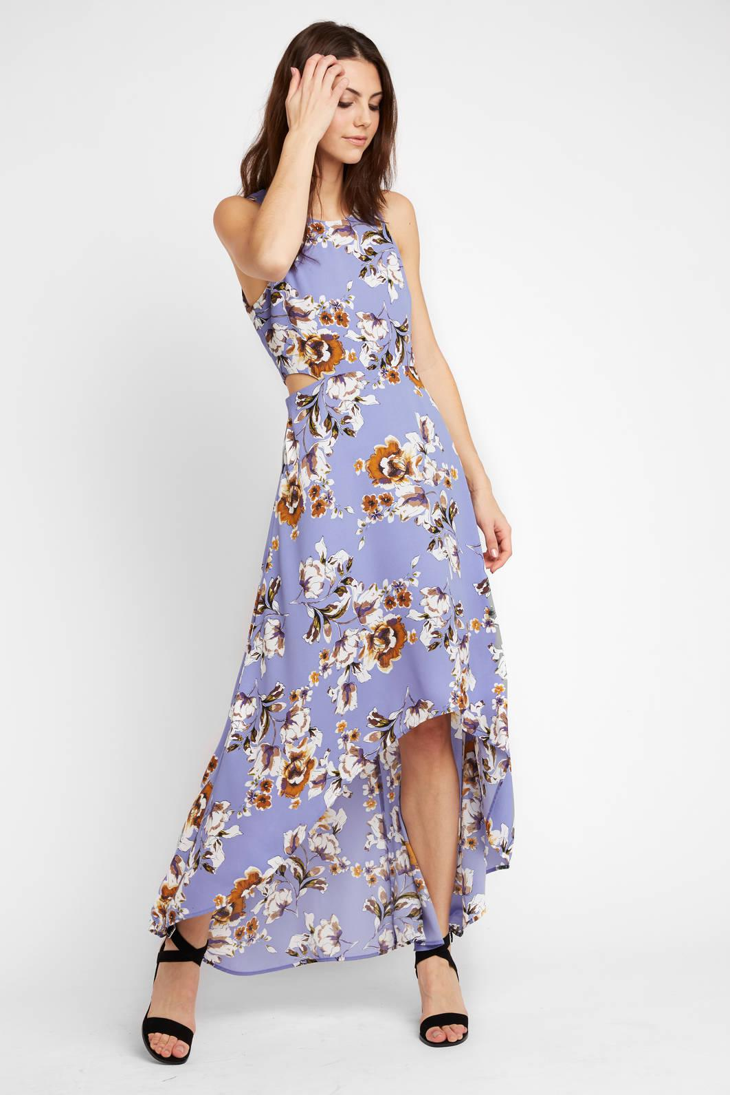 Lyst South Moon Under Sleeveless Floral Printed High Low Maxi