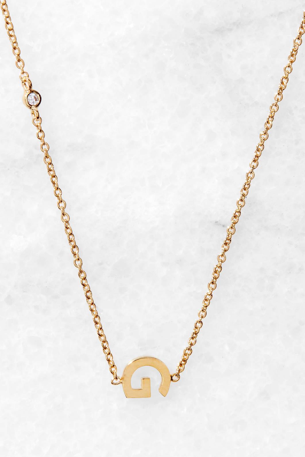 Tai Jewelry Gold Alphabet Necklace P Gold GdqqQvSPm