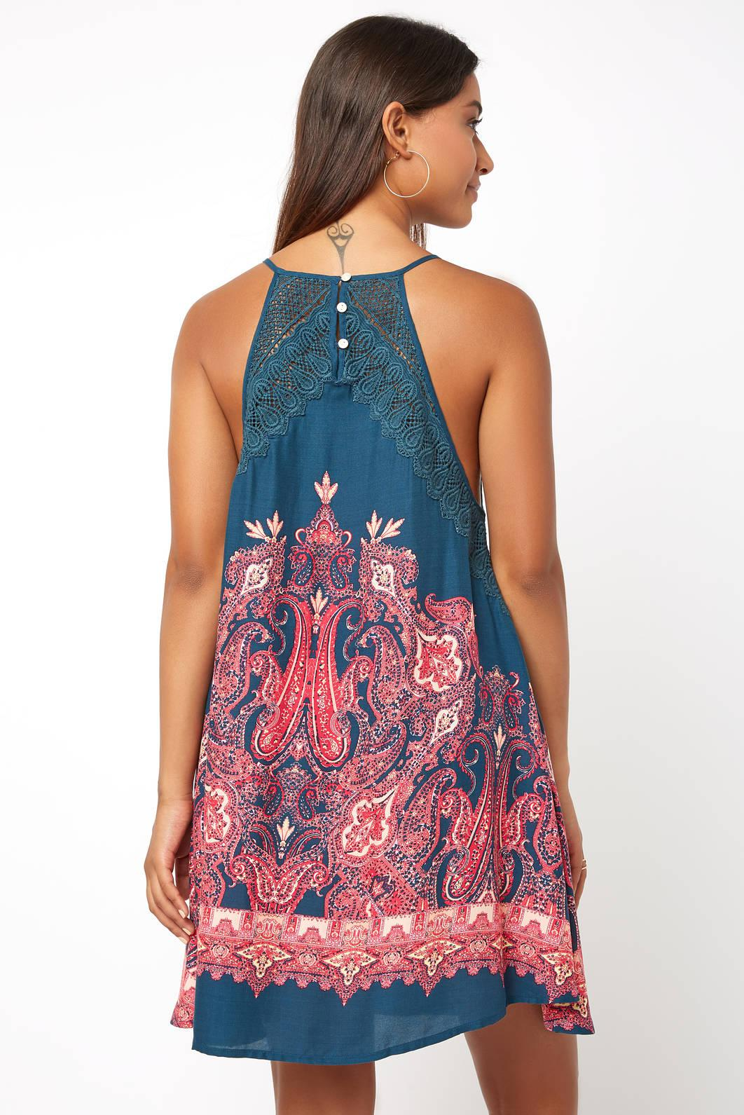 Lyst South Moon Under Sleeveless Shea Print Mini Swing Dress In Blue