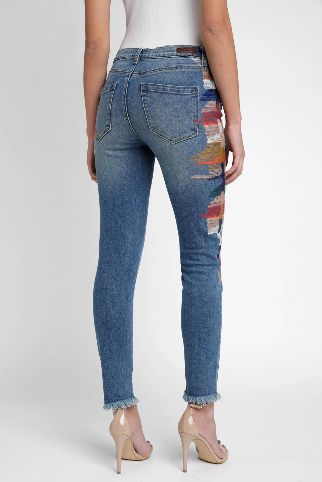 Lyst South Moon Under East Coast Embroidered Side Stripe Jean In Blue