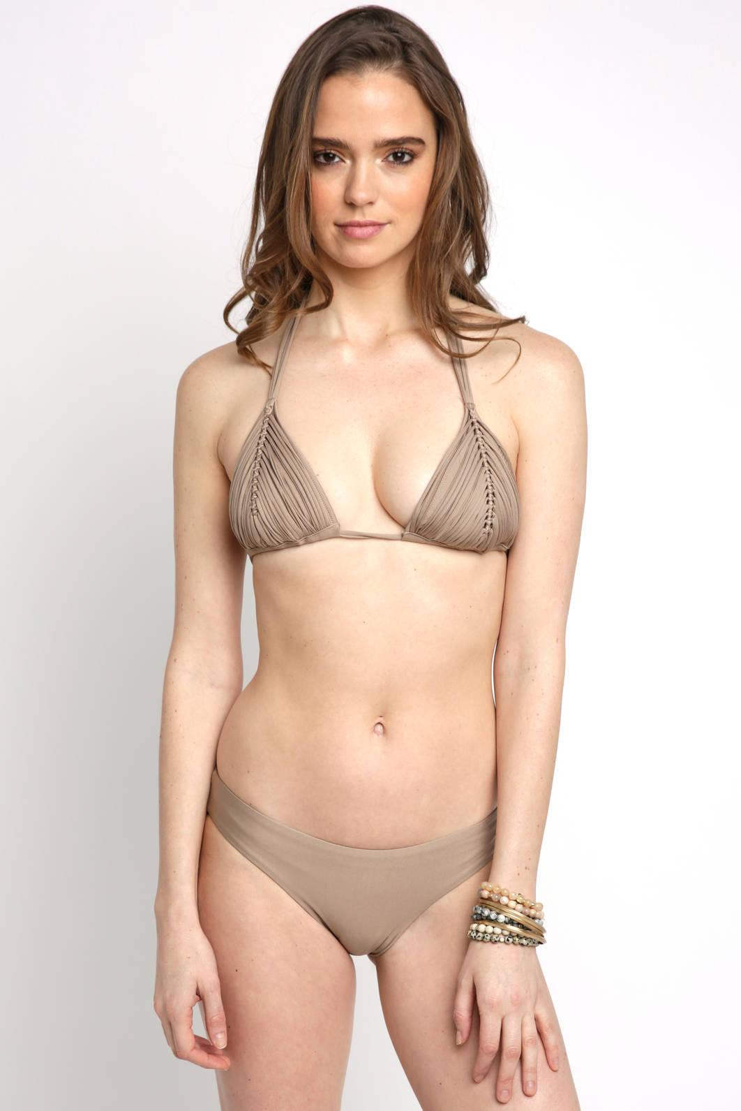 6500ade04ae Lyst - TOMS Basic Rushed Sand Hipster Bikini Bot in Natural