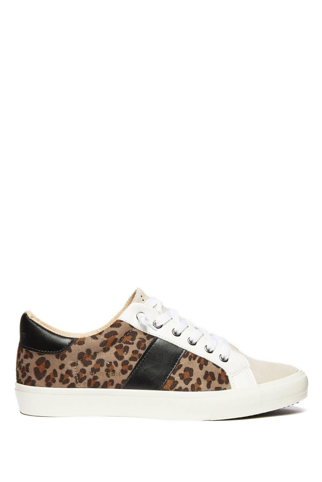 bfa6858b0 Lyst - South Moon Under Dina Leopard Lace Up Sneaker in Brown