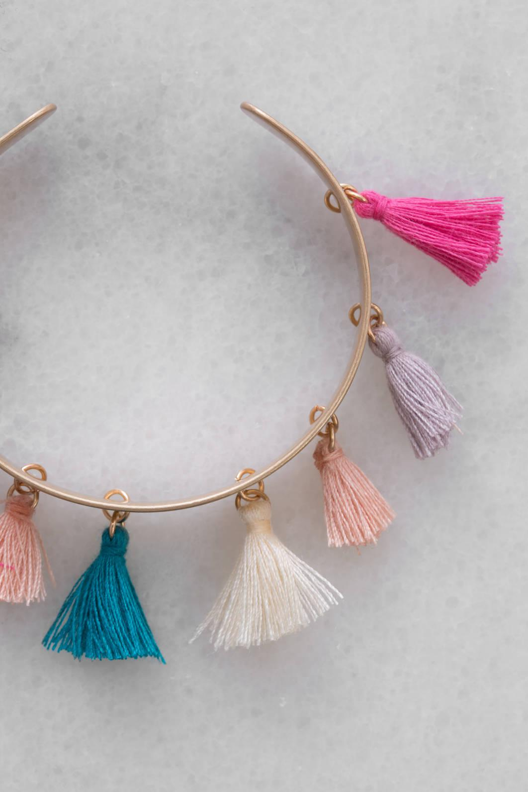 South Moon Under Tassel Cuff W/ Fall Tassels Gold cSoKZ