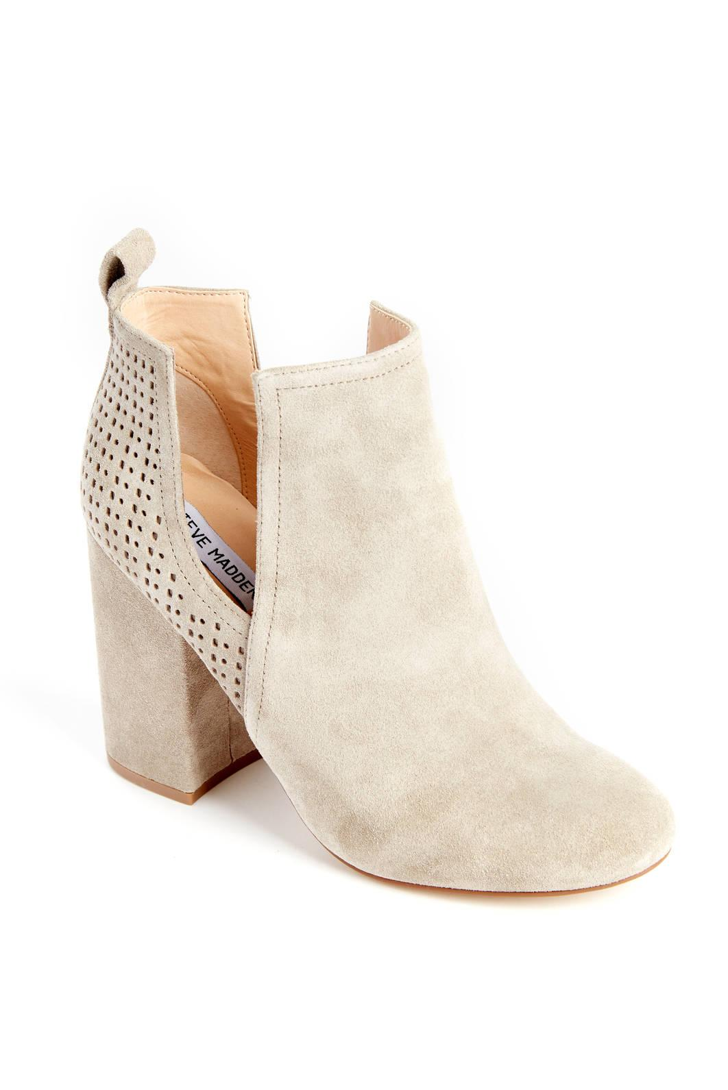 a393d9de09f Lyst - Steve Madden Cut Out Perforated Bootie in Natural
