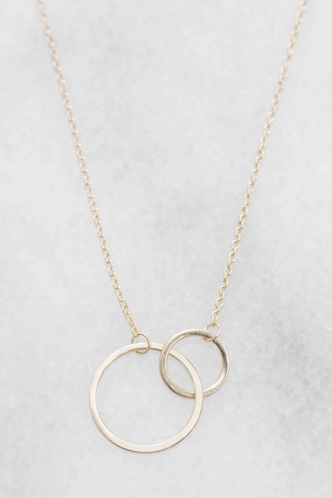 South Moon Under CZ Curved Bar Delicate Necklace Clear FB32M48ve
