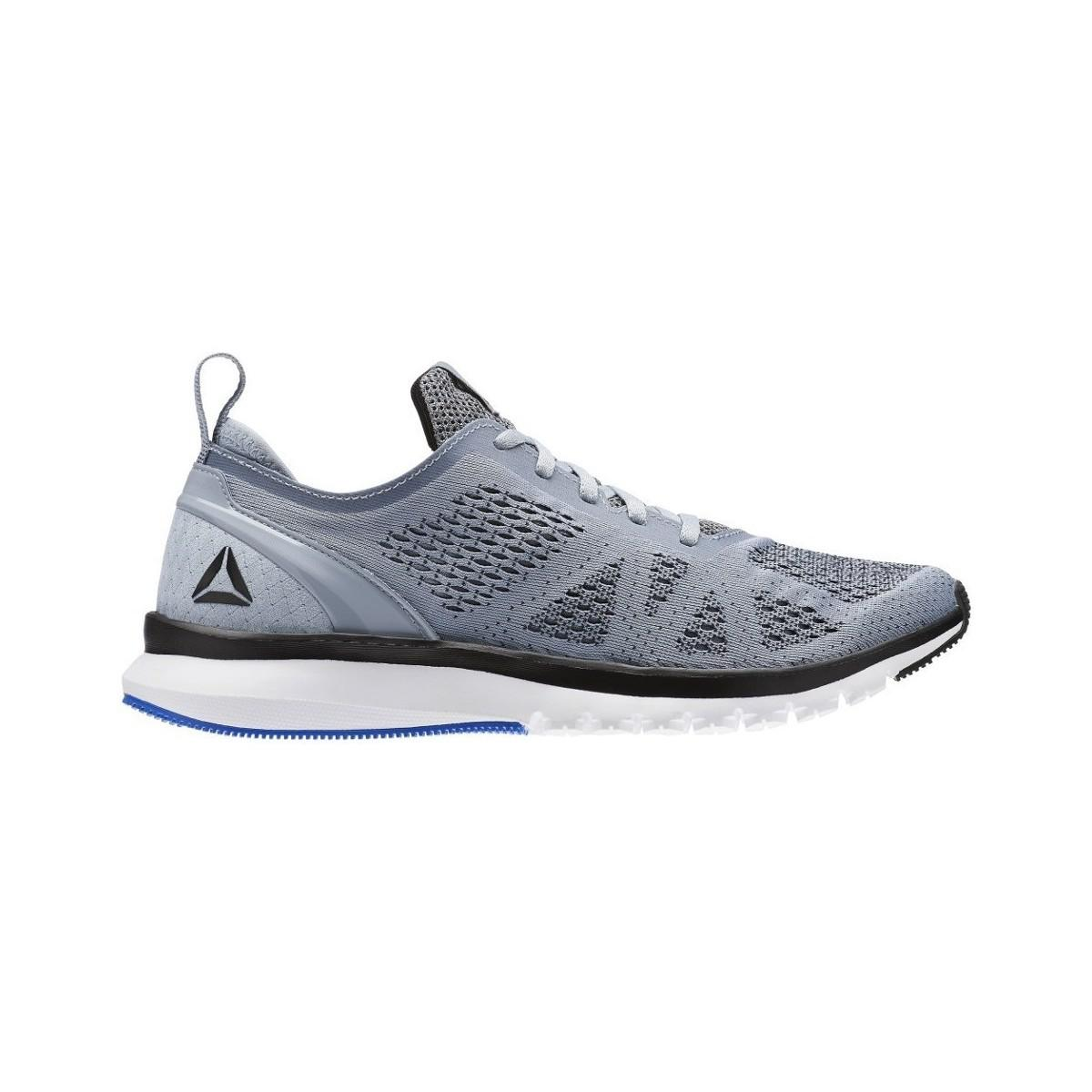 Reebok Print Smooth Clip U Greyblkwhtbluepw Men s Shoes (trainers ... 6a90ff4f5