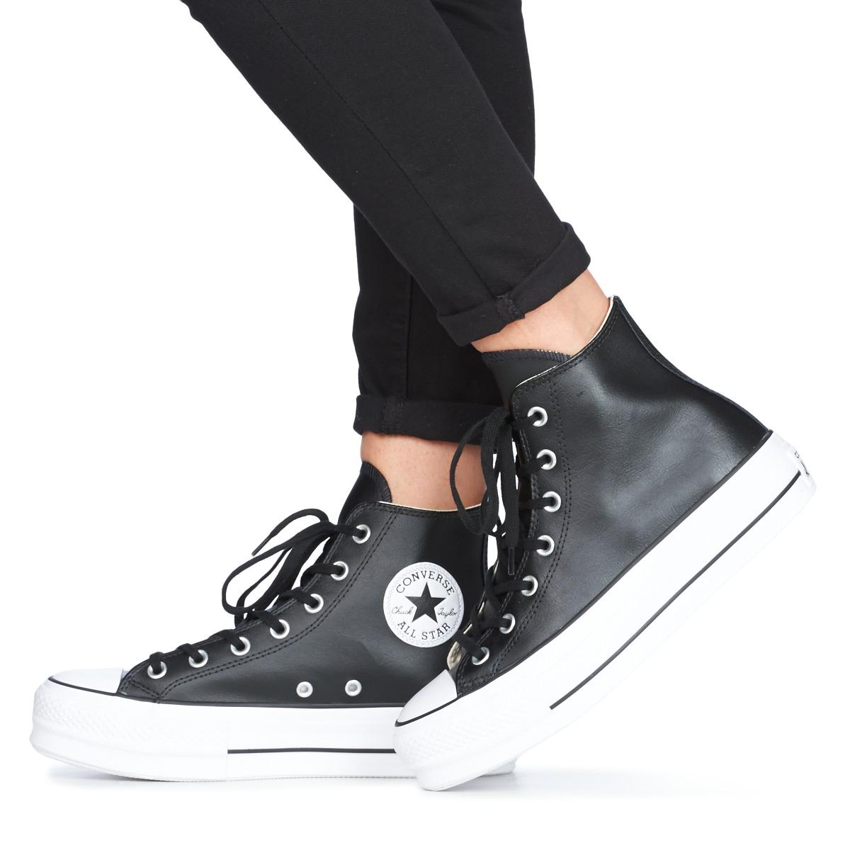 Converse Black Leather Chuck Taylor All