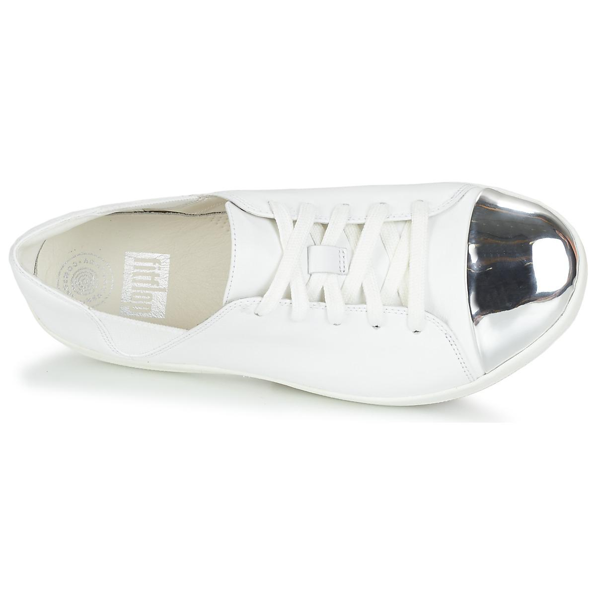 Fitflop F-sporty Mirror-toe Sneakers Women's Trainers In White