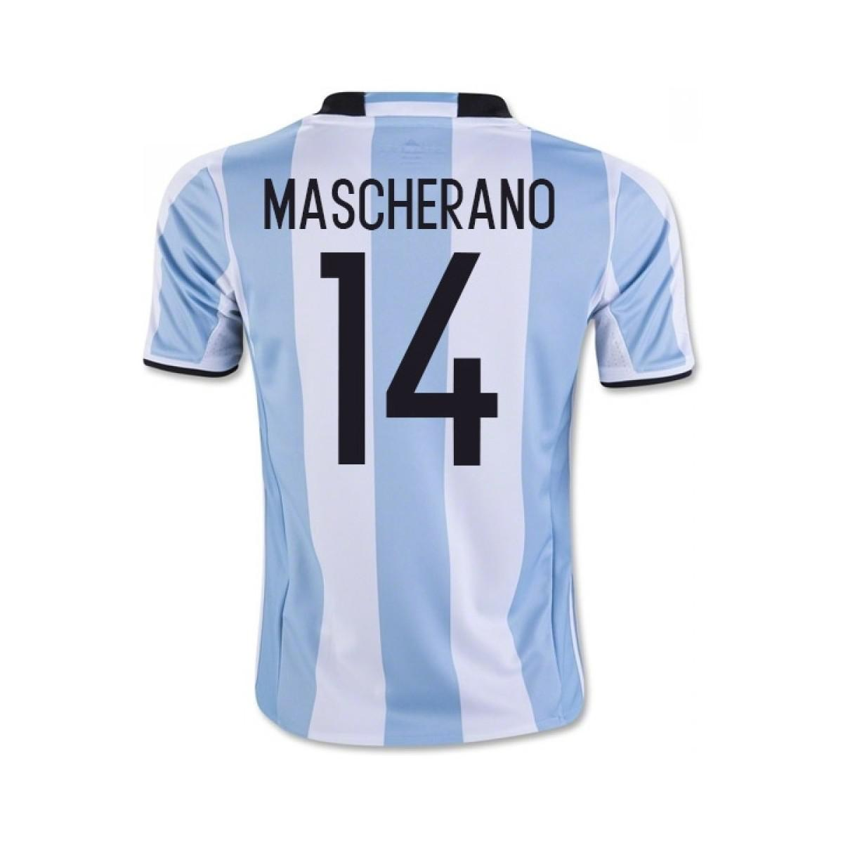 adidas 2016-17 Argentina Home Shirt (mascherano 14) Men's T Shirt In White for Men