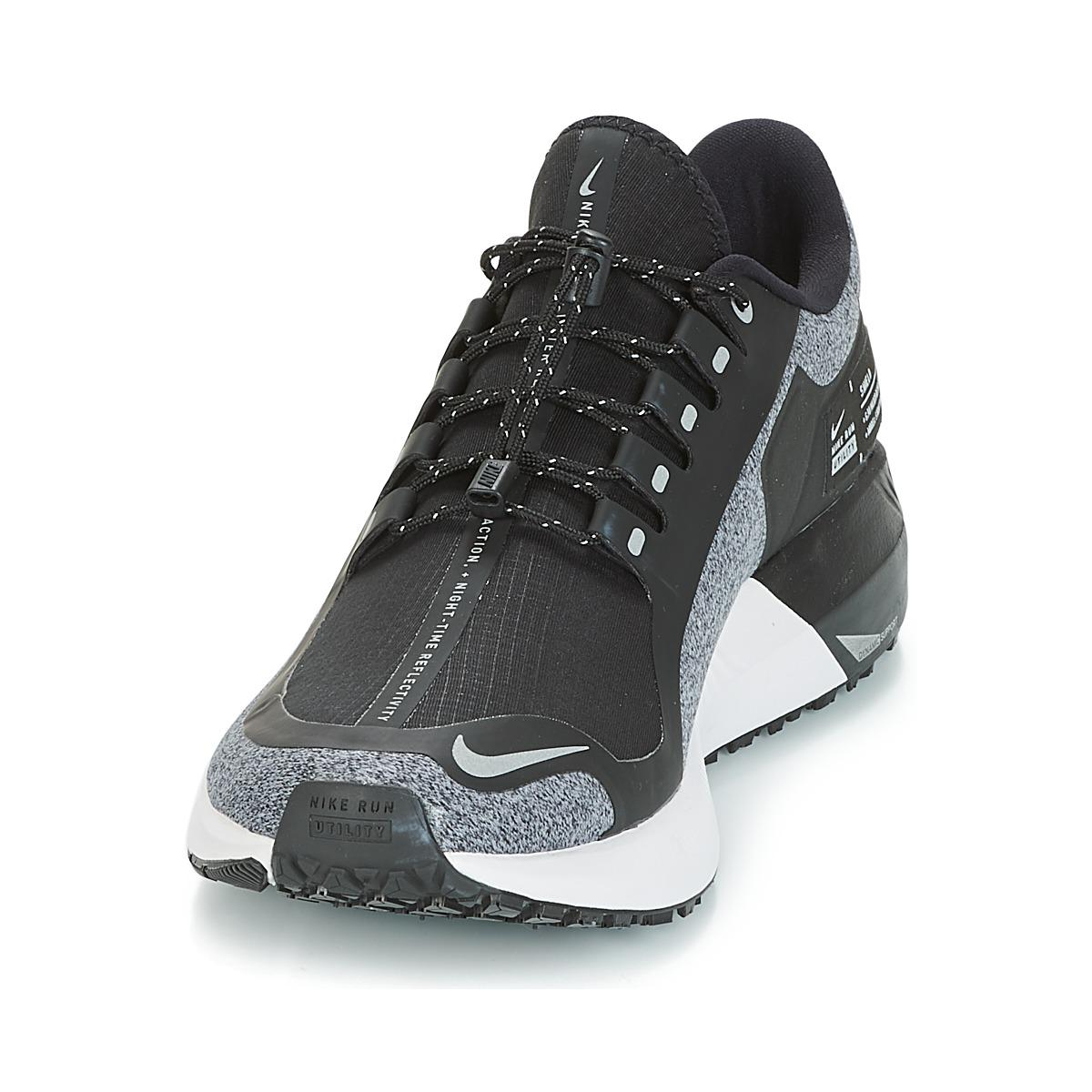 f7a8ecf80ca7 Nike Air Zoom Structure 22 Shield Running Trainers in Black for Men ...