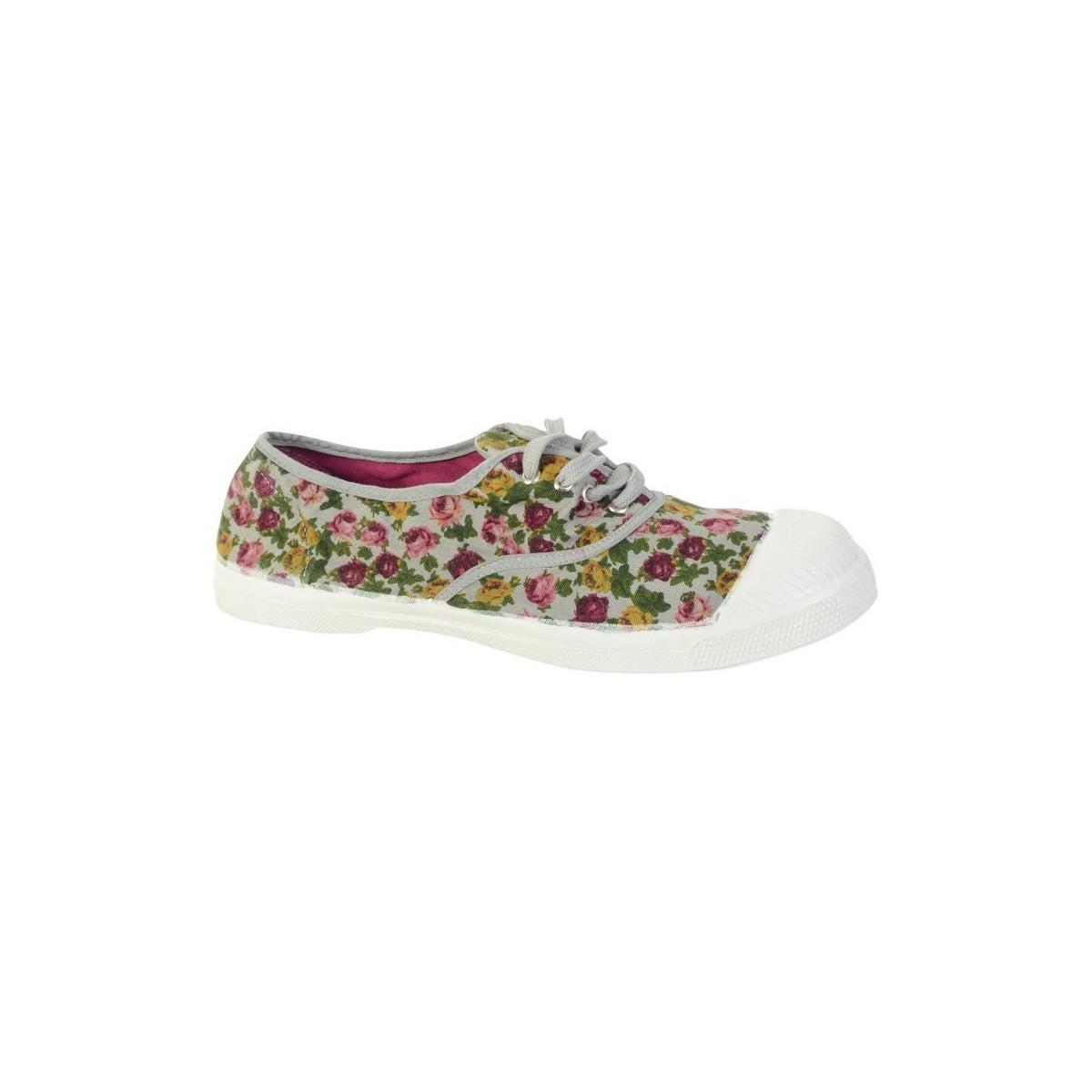 Bensimon Shoes Fleurs 0805 Gris Perle Women's Shoes (trainers) In Grey in Grey