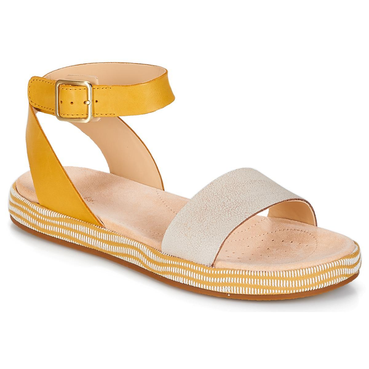 154ae96fb6a Clarks Botanic Ivy Sandals in Yellow - Save 32% - Lyst