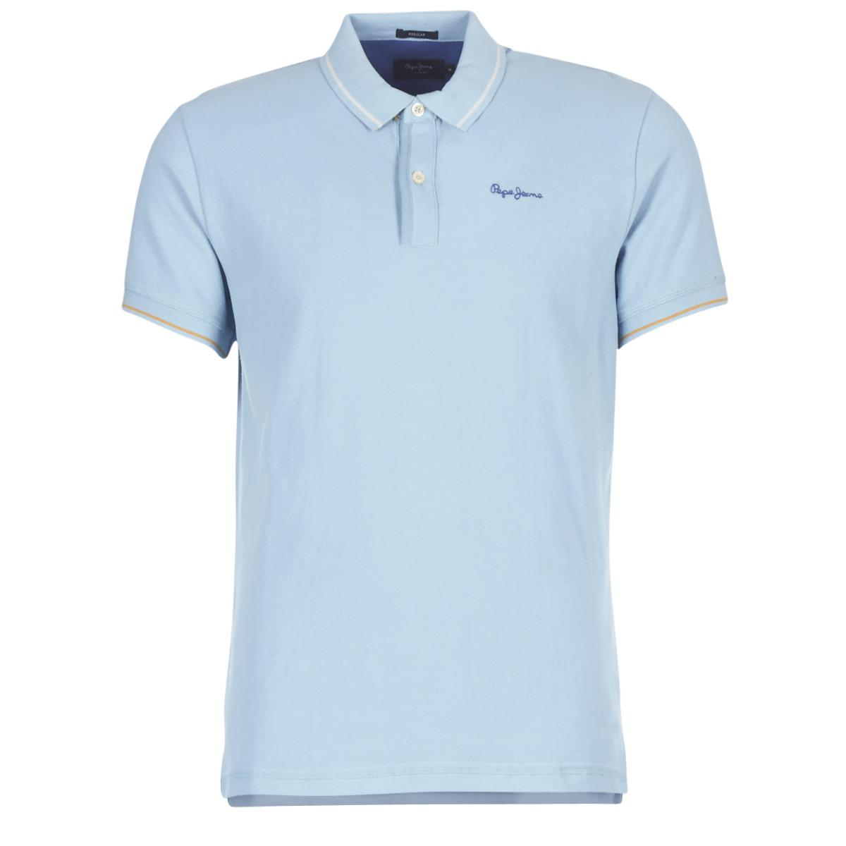 d6fb893b Pepe Jeans - Blue Angelico Polo Shirt for Men - Lyst. View fullscreen