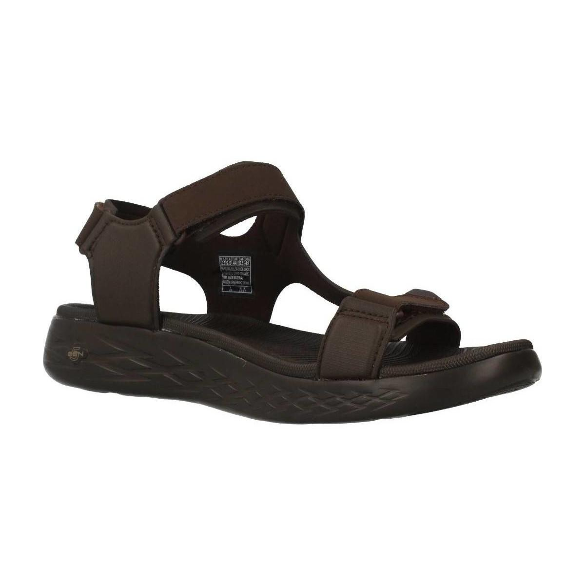 Skechers Synthetic On The Go 600 Venture 55366 Choc Men's Sandals In Brown for Men