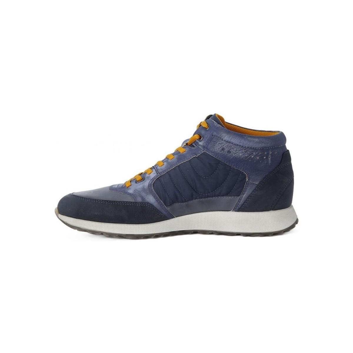 Ecco Sneak Mens Men's Shoes (high-top Trainers) In Multicolour in Blue for Men