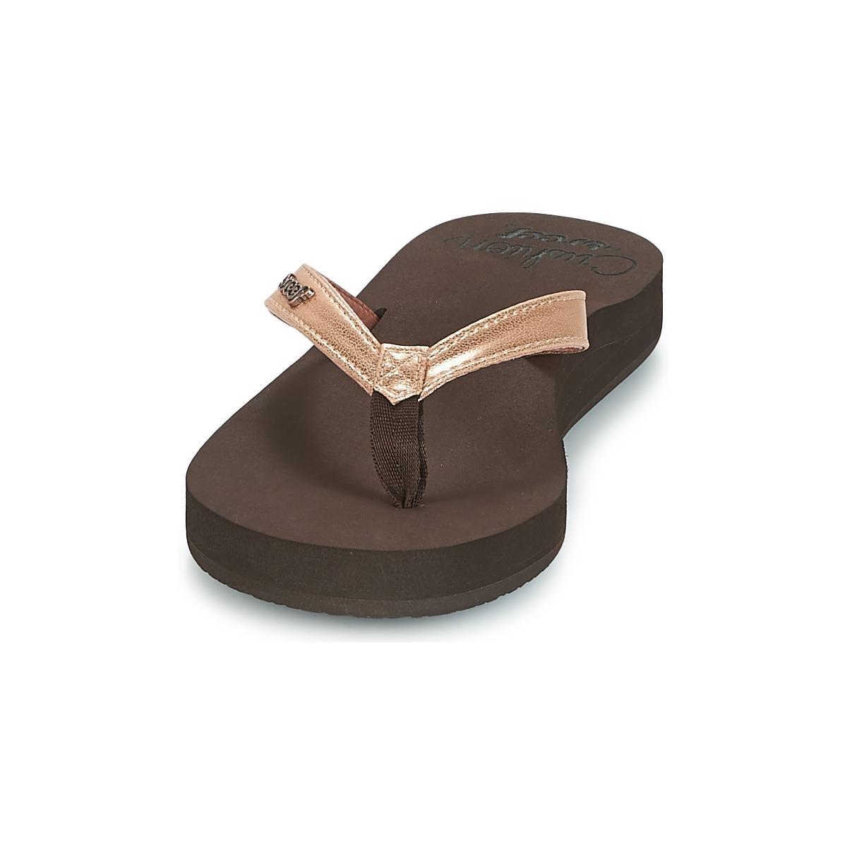 ddee684ad7d Reef - Brown Cushion Luna Flip Flops   Sandals (shoes) - Lyst. View  fullscreen