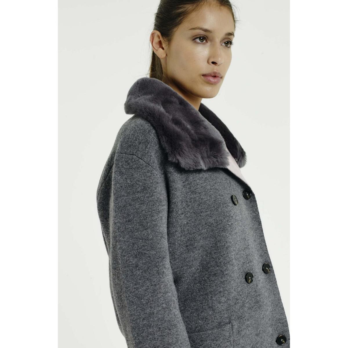 Max & Moi Jacket Nicaragua Grey / Pink Woman Autumn/winter Collection Women's In Grey in Grey for Men