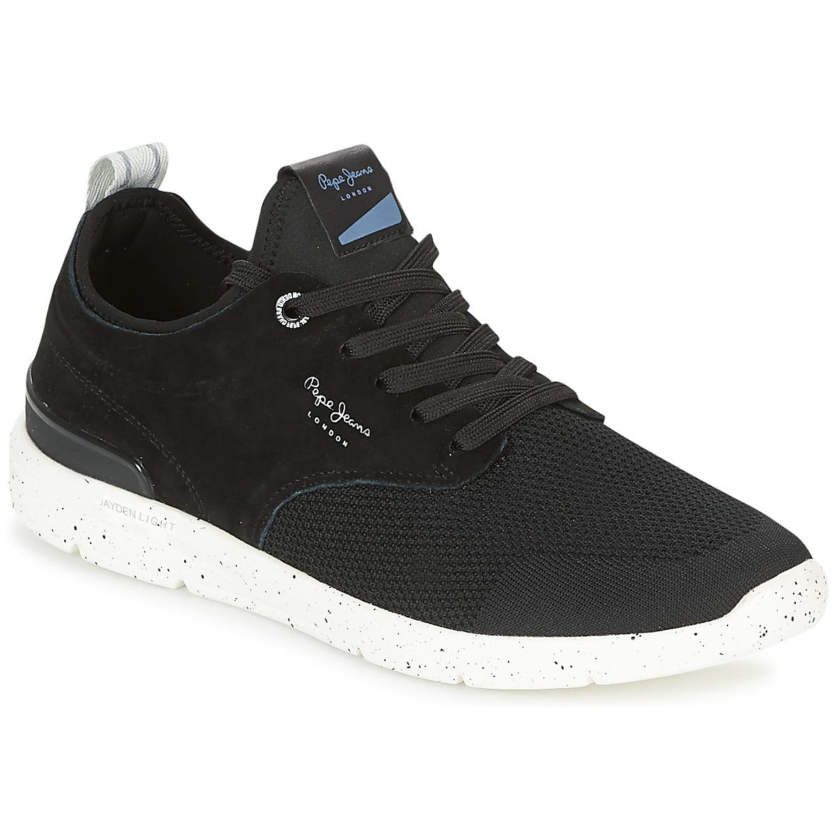 c33d9bb6e19 Pepe Jeans Jayden Tech Men s Shoes (trainers) In Black in Black for ...