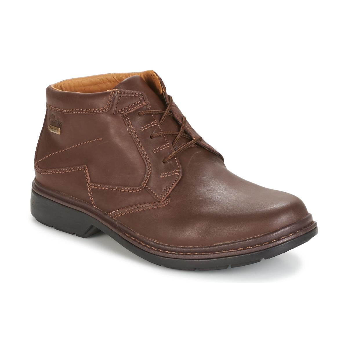 Clarks Leather Rockie Hi Gtx Men S Mid Boots In Brown For
