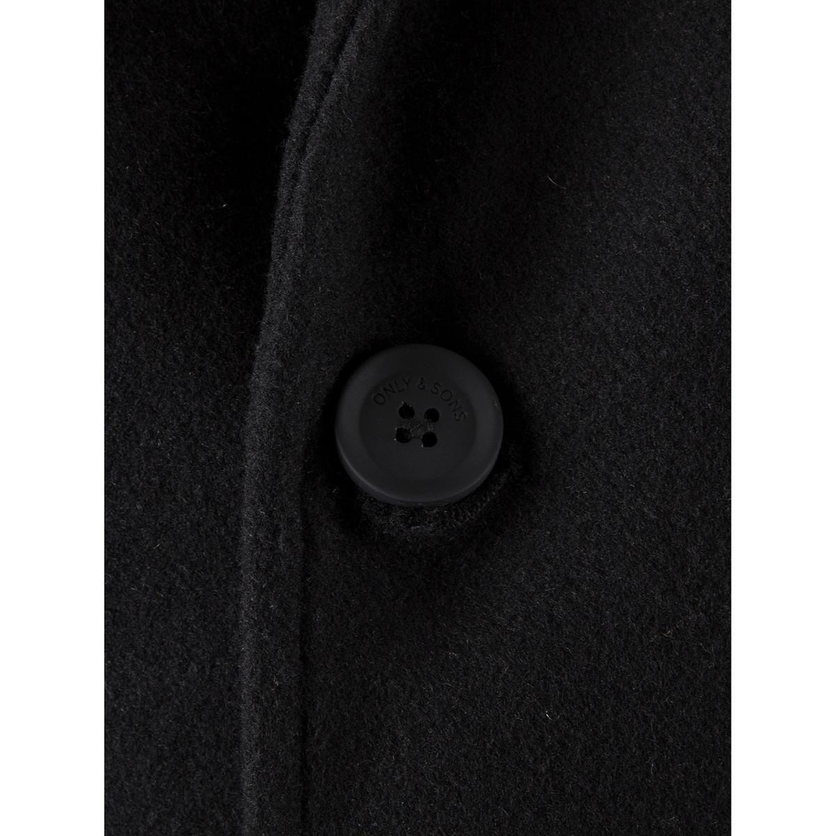 6815a167 Only & Sons Men's Julian Trench Coat, Black Men's Coat In Black in ...