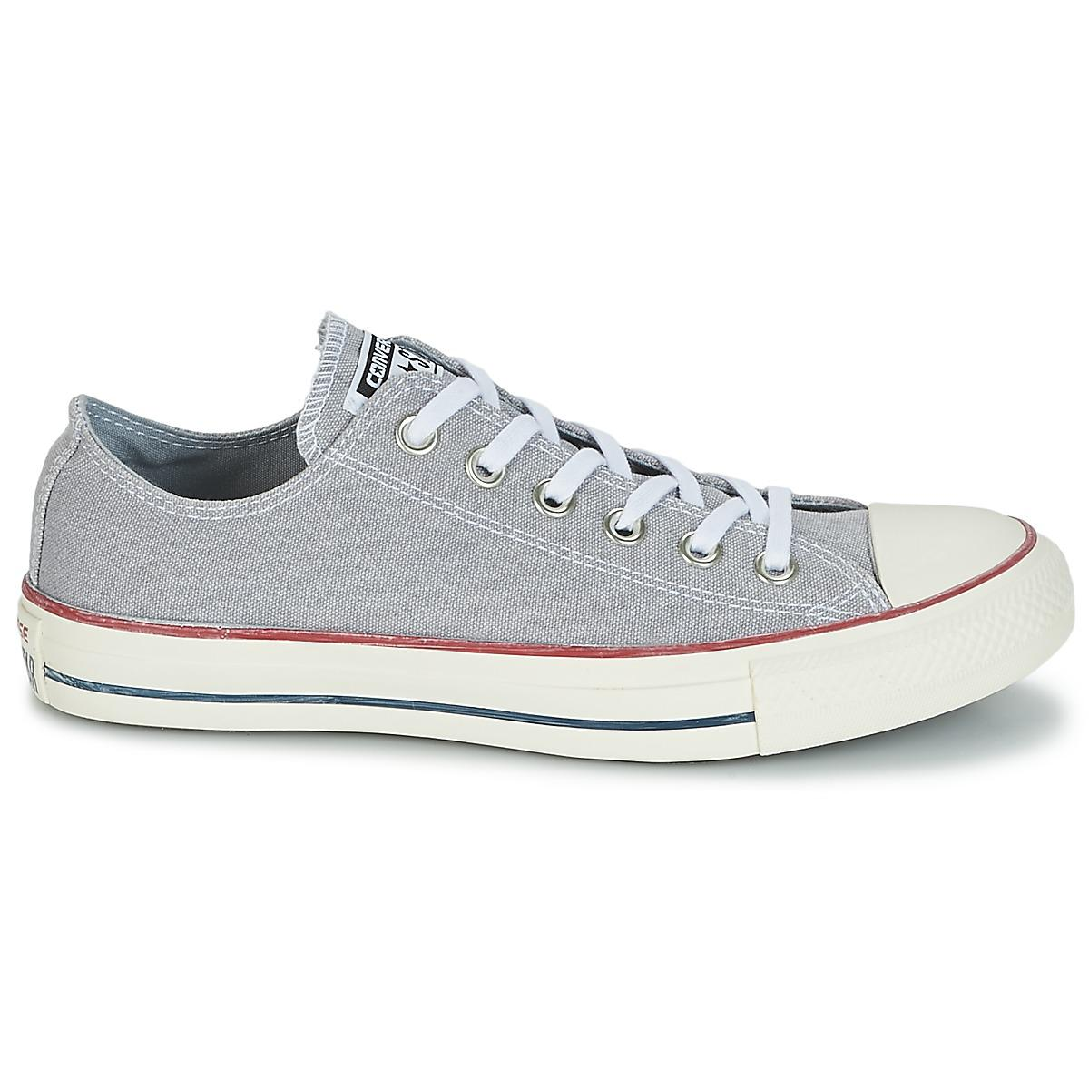 Converse Chuck Taylor All Star Ox Stone Wash Women's Shoes (trainers) In Grey in Grey