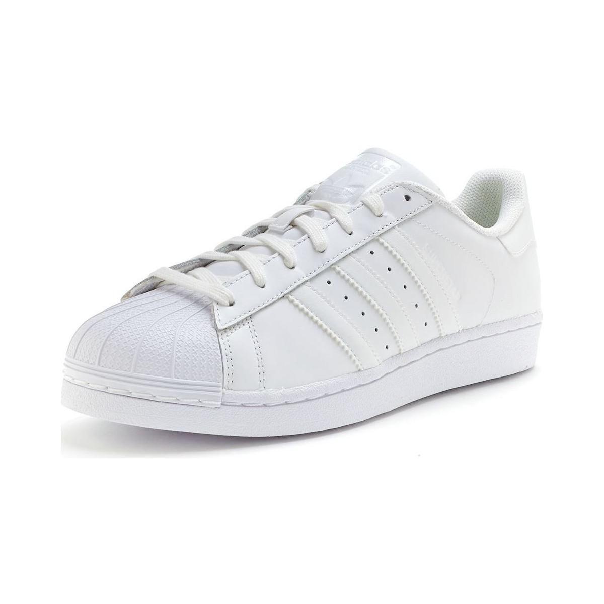 71cc6de4fe09 Adidas - Originals Superstar Trainers In Core White B27136 Men s Shoes ( trainers) In White. View fullscreen