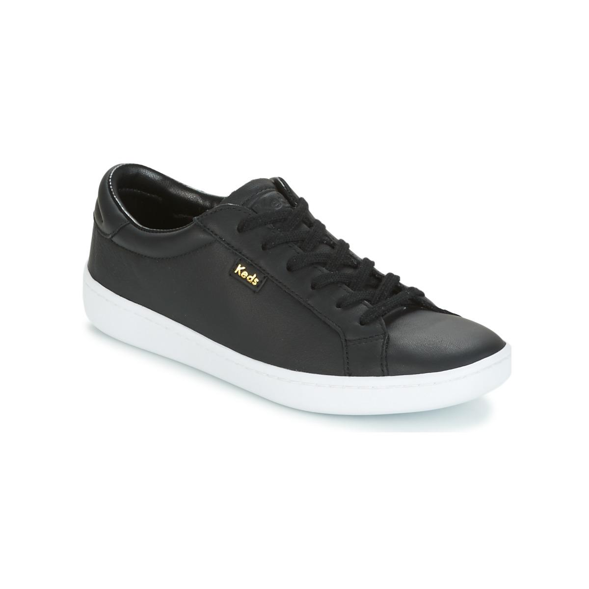 8dd9b12da9b Keds Ace Core Leather Women s Shoes (trainers) In Black in Black for ...