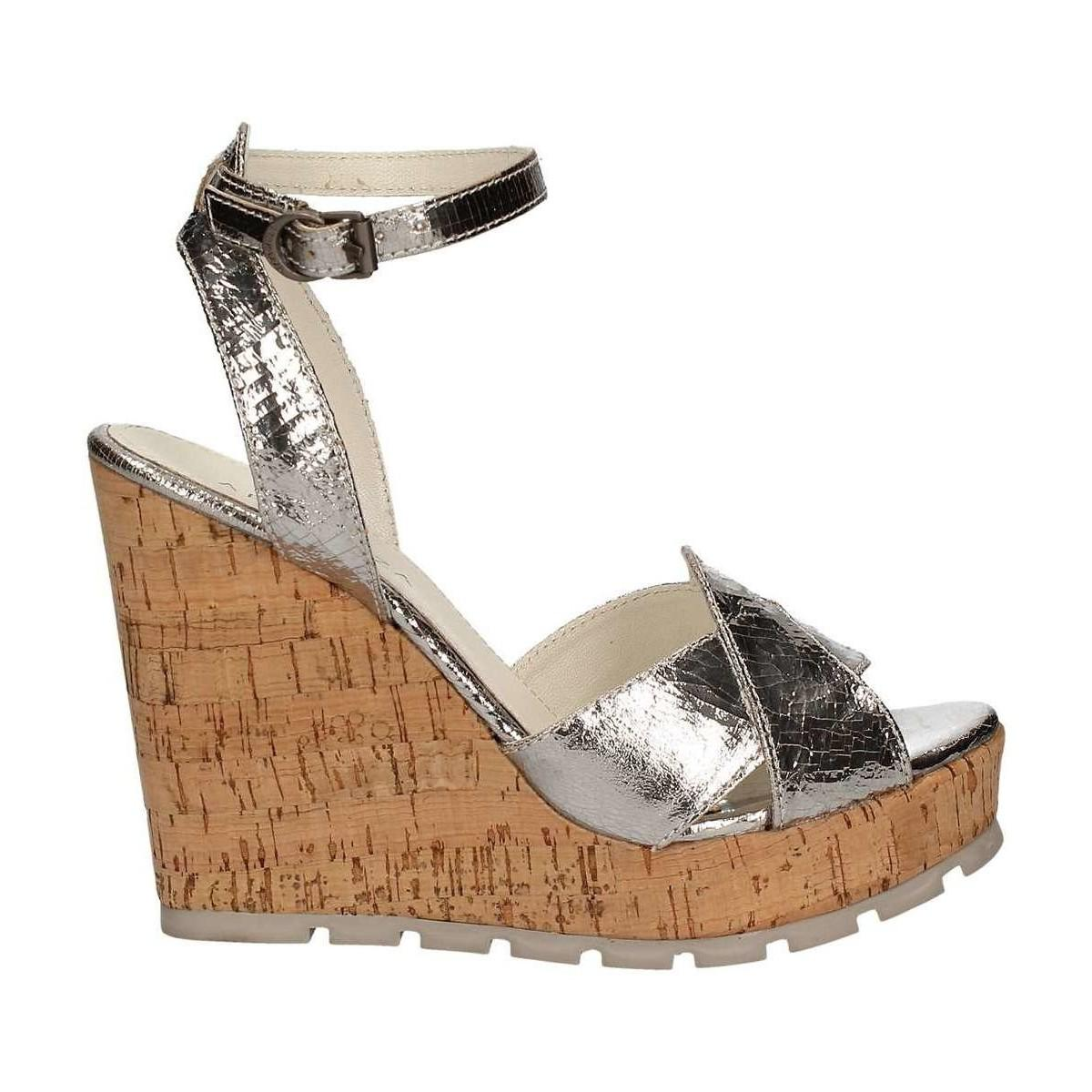 Apepazza LCK03 Wedge sandals Frauen Silver 40 LWsN7Q