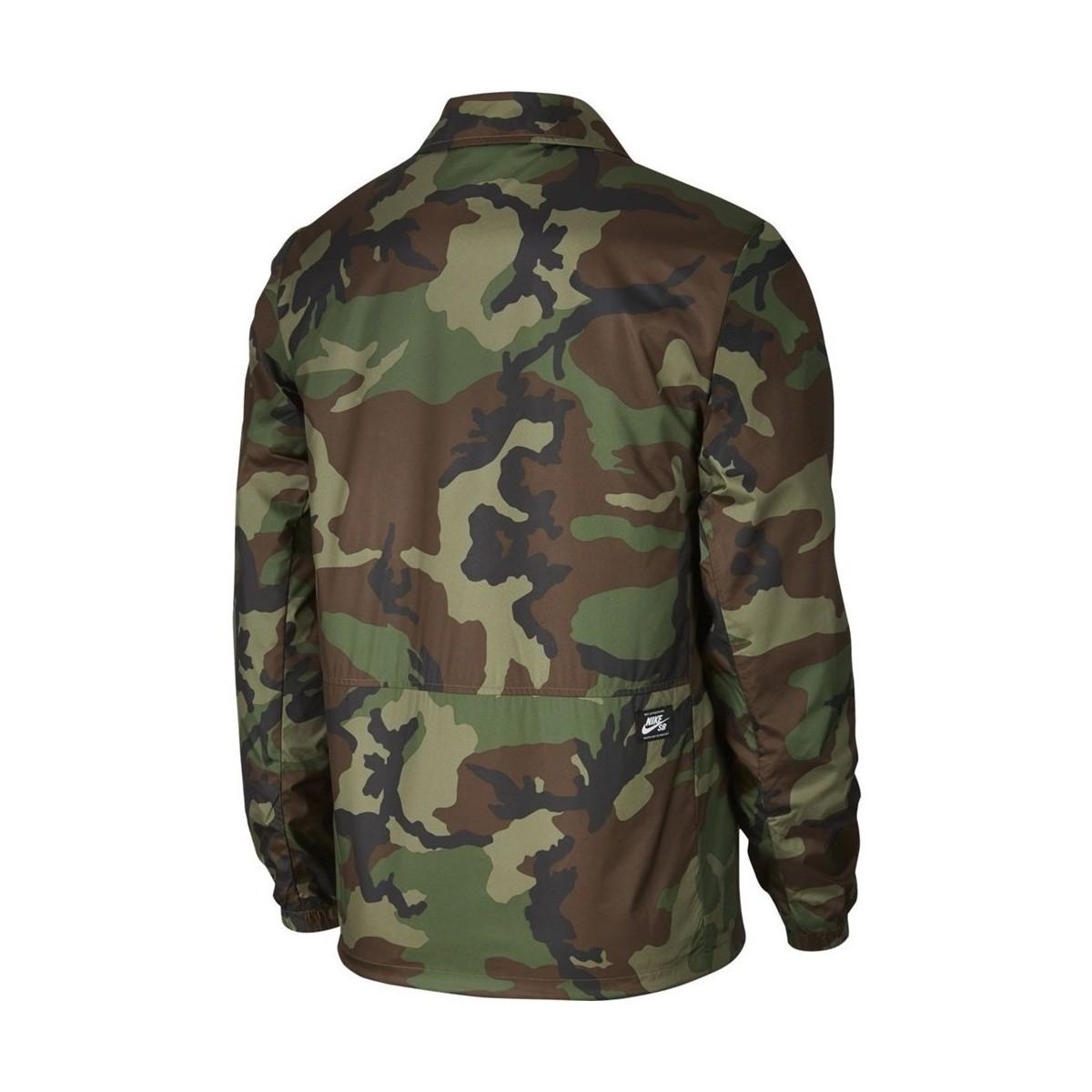 Nike Synthetic Sb Shield Coaches Icon Jacket in Green for Men