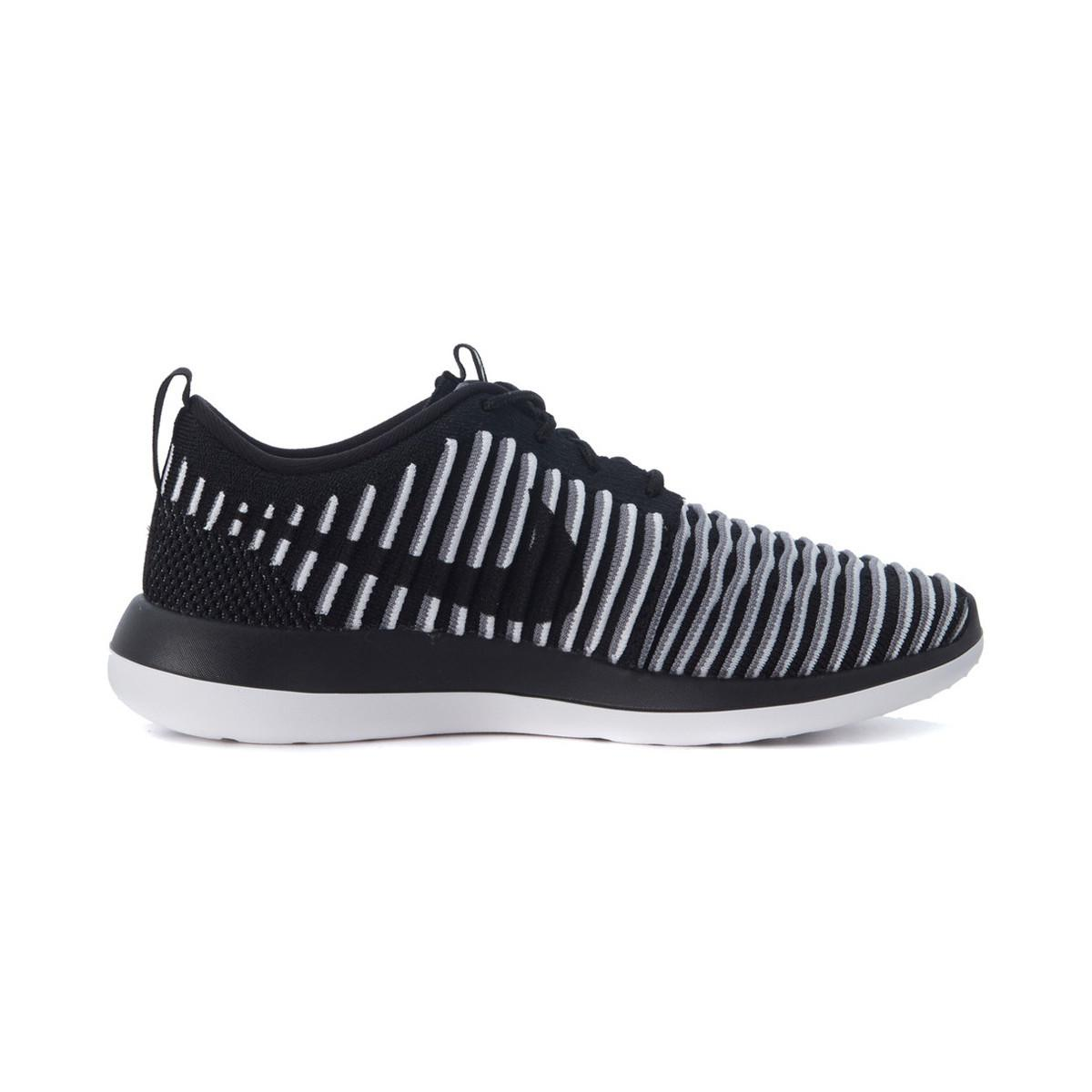 best website c32d2 a0943 ... authentic nike sneaker roshe one two flyknit in tessuto intrecciato  nero e bia 63587 920cd