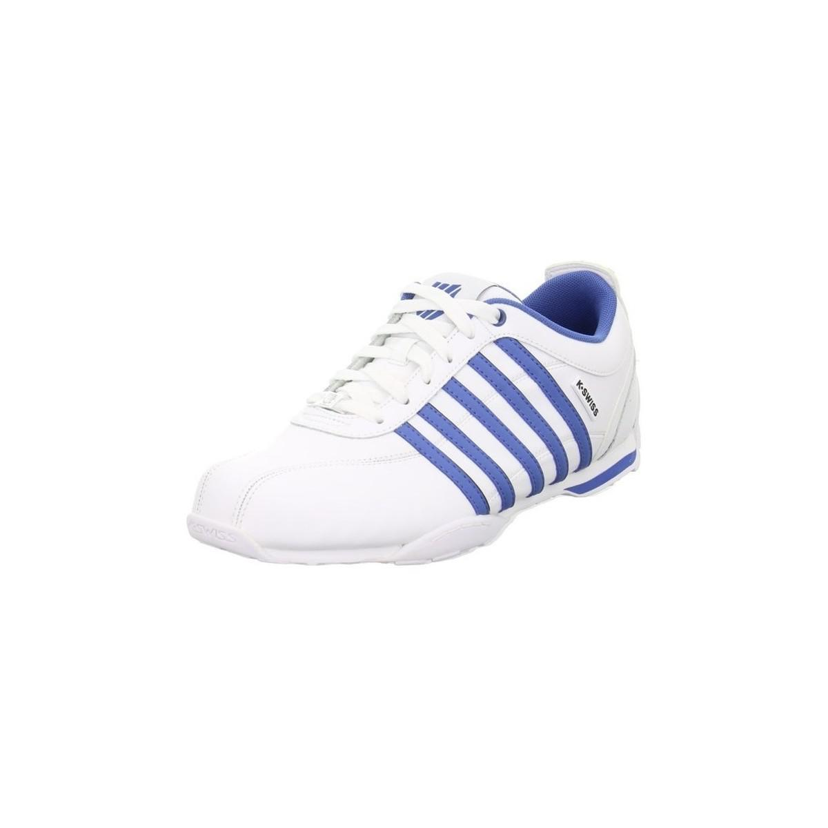 k swiss arvee 15 men 39 s shoes trainers in white in white for men lyst. Black Bedroom Furniture Sets. Home Design Ideas