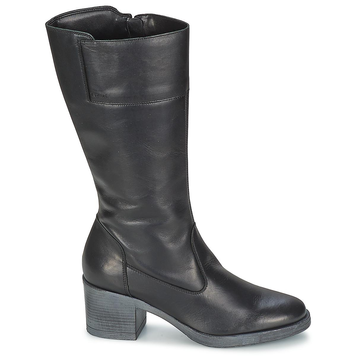 Esprit Leather Jordin Boot Women's High Boots In Black