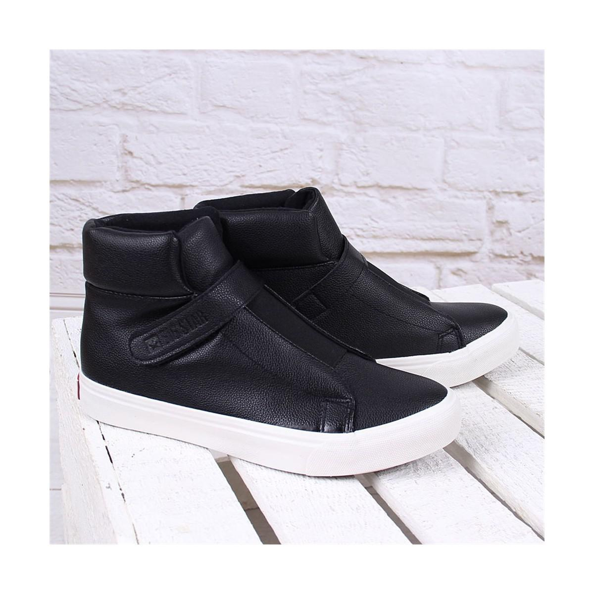 Big Star Czarne Guma Y274145 Women's Shoes (high-top Trainers) In Black for Men