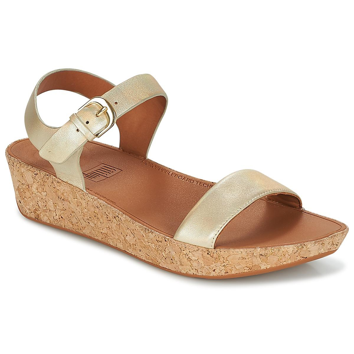 2fbd9ac0b Fitflop Bon Ii Back-strap Sandals Women s Sandals In Gold in ...