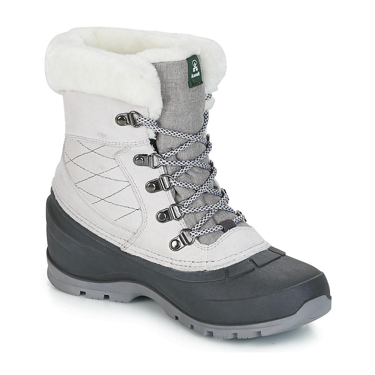 1372090ee1b Kamik Snowalley L Women's Snow Boots In Grey in Gray - Lyst