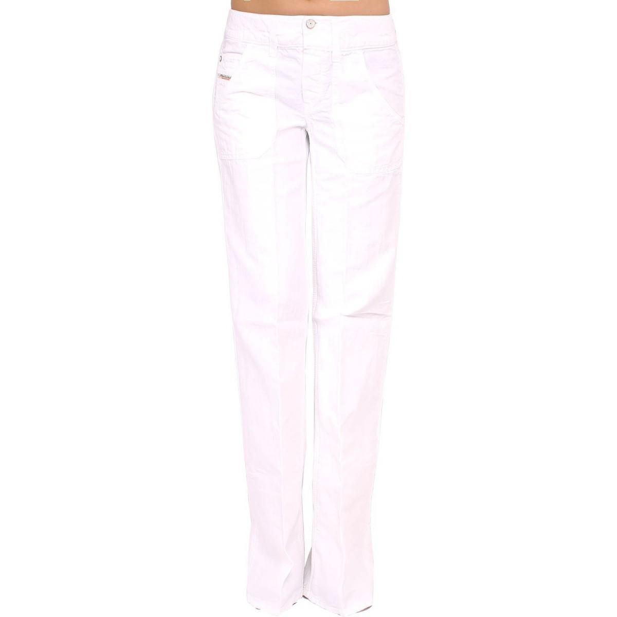 9aa4d8c9 DIESEL - Women's Trousers Wirky Women's Trousers In White in White ...