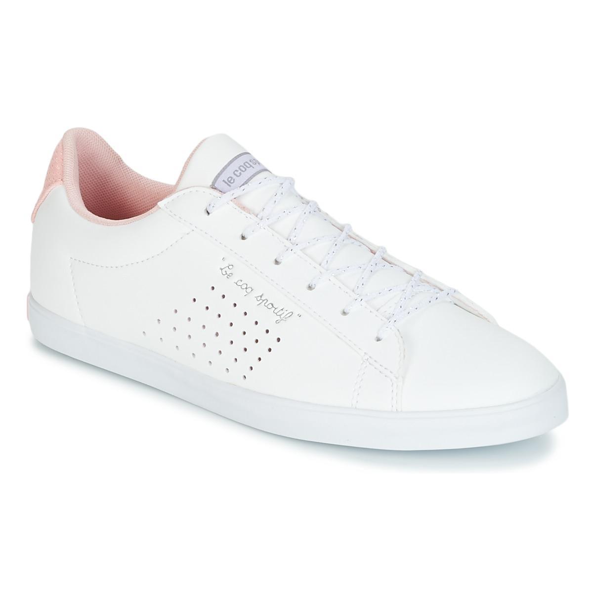 aae68f61c952 Le Coq Sportif Agate Lo S Lea metallic Mesh Women s Shoes (trainers ...