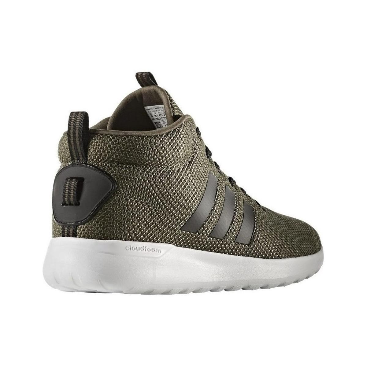 Adidas Neo Cloudfoam Cf Lite Racer Mid Men's Shoes (high top Trainers) In Green for men