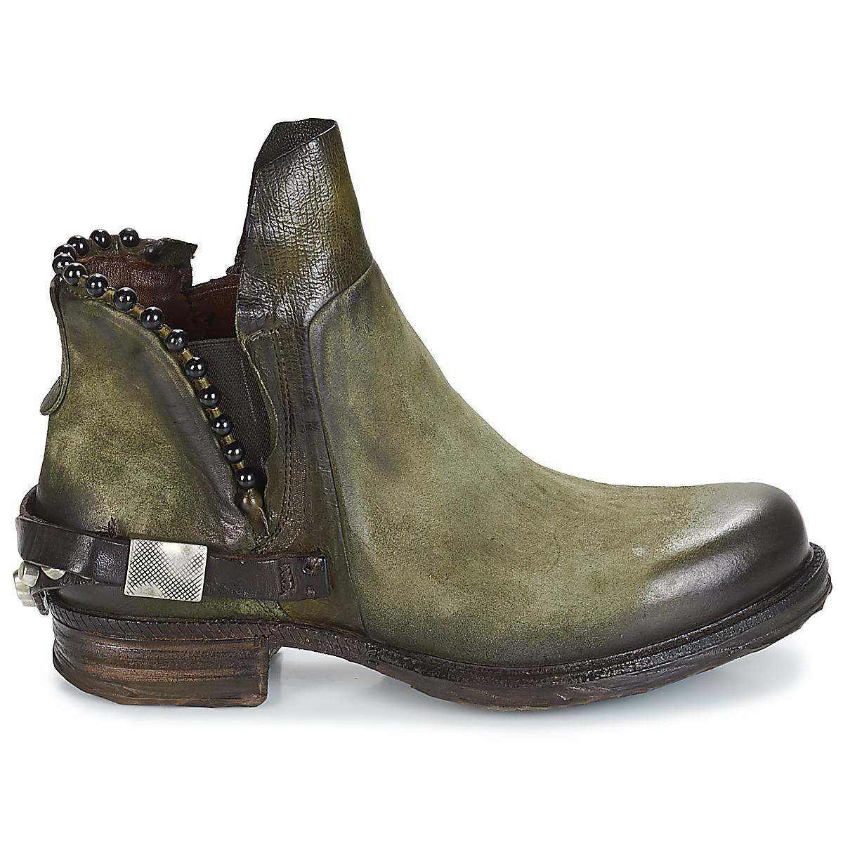 A.s.98 Saint 14 Mid Boots in Green