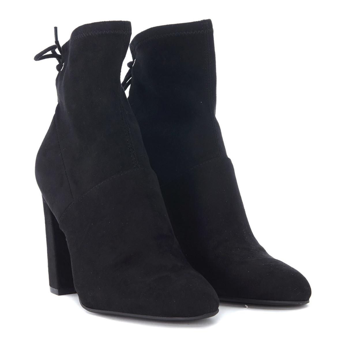 Steve Madden Tronchetto Enact In Pelle Scamosciata Nera Women's Low Boots In Black