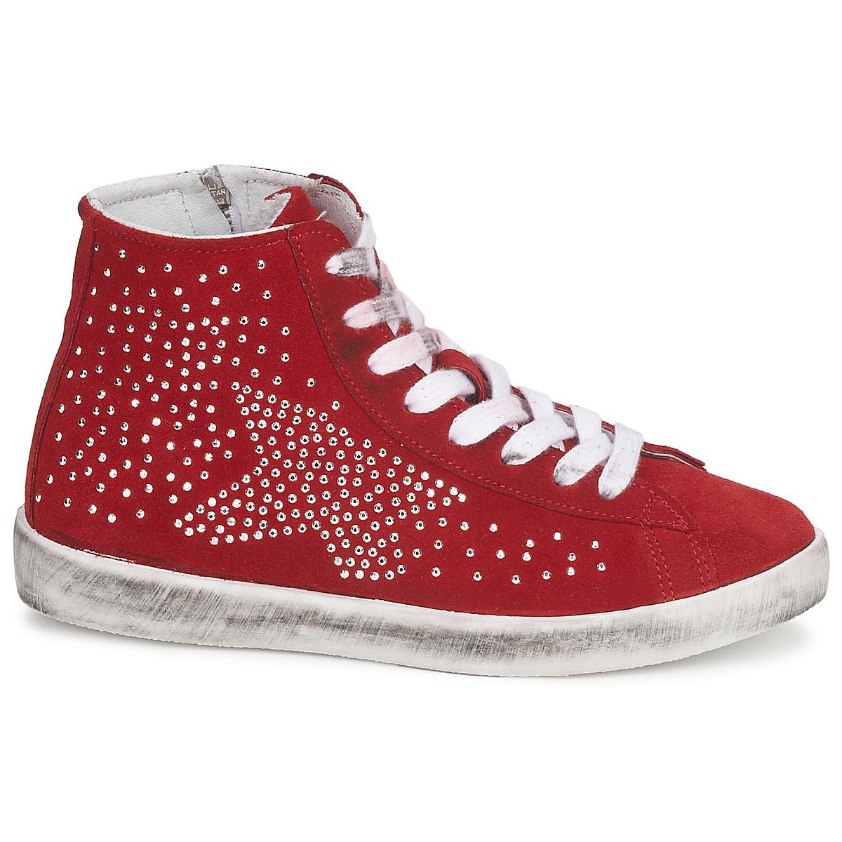 Yurban Guiver Women's Shoes (high-top Trainers) In Red