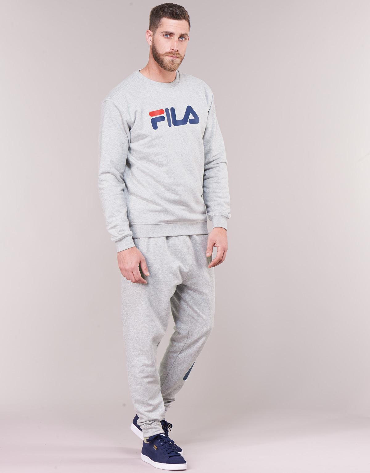 Fila Katoen Sweater Pure Crew Sweat in het Grijs voor heren