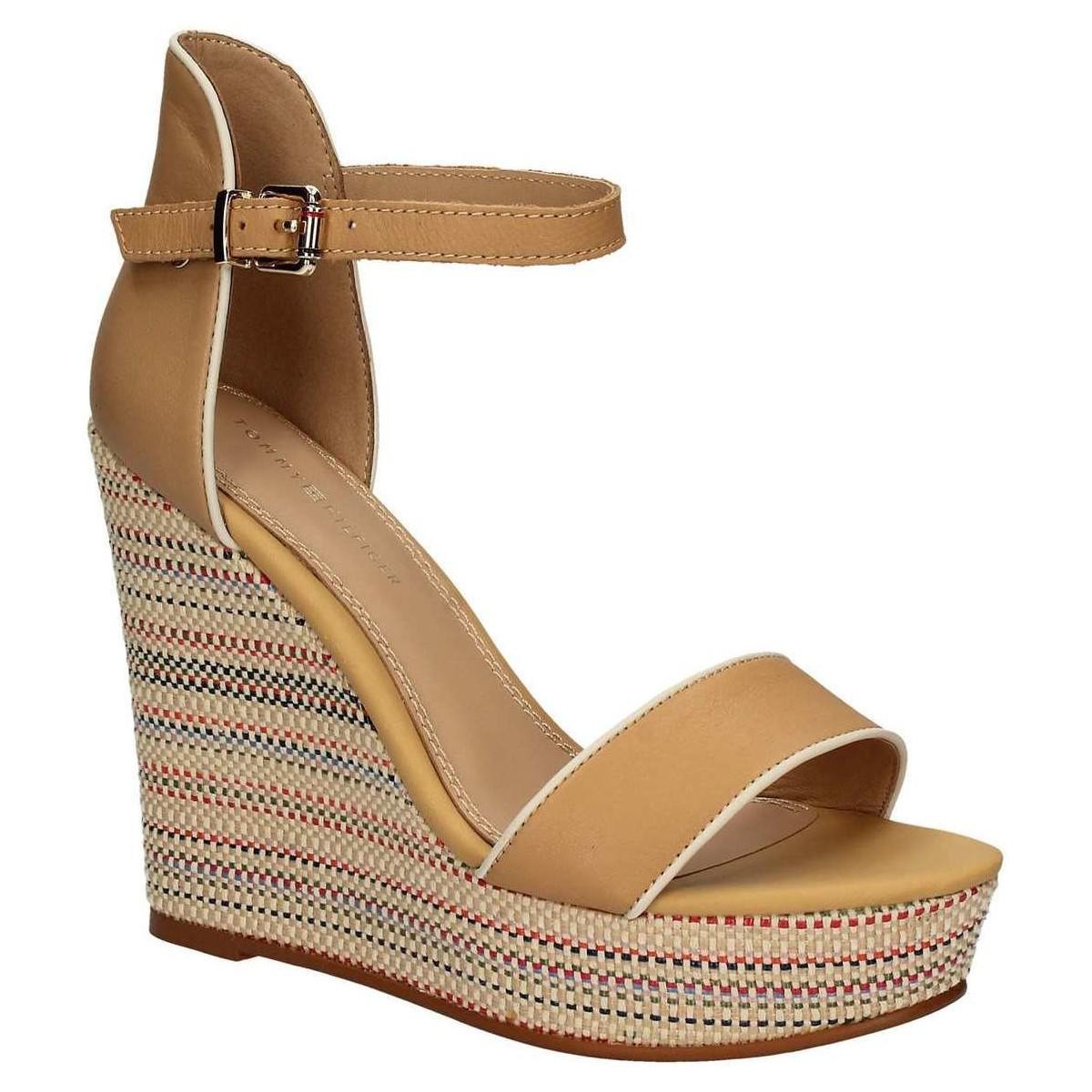 4c3658ad573 tommy-hilfiger-brown-Fw0fw01043-Wedge-Sandals-Women-Brown-Womens-Sandals -In-Brown.jpeg