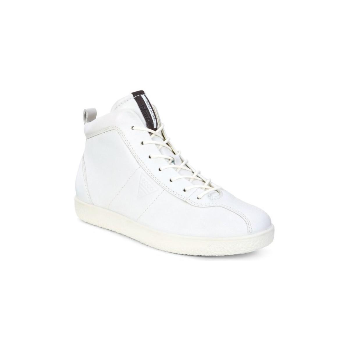 0e065b5afa Ecco Soft 1 Ladies Women's Shoes (high-top Trainers) In White in ...
