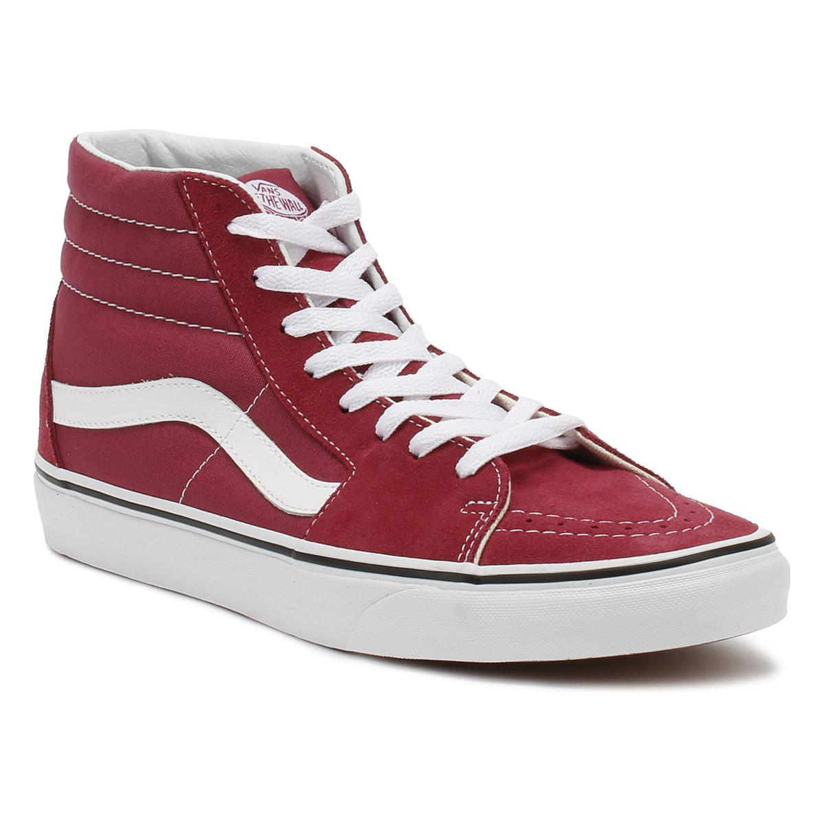 14a34e70d7d Vans. Dry Rose Red   True White Sk8-hi Trainers Women s Shoes (high-top ...