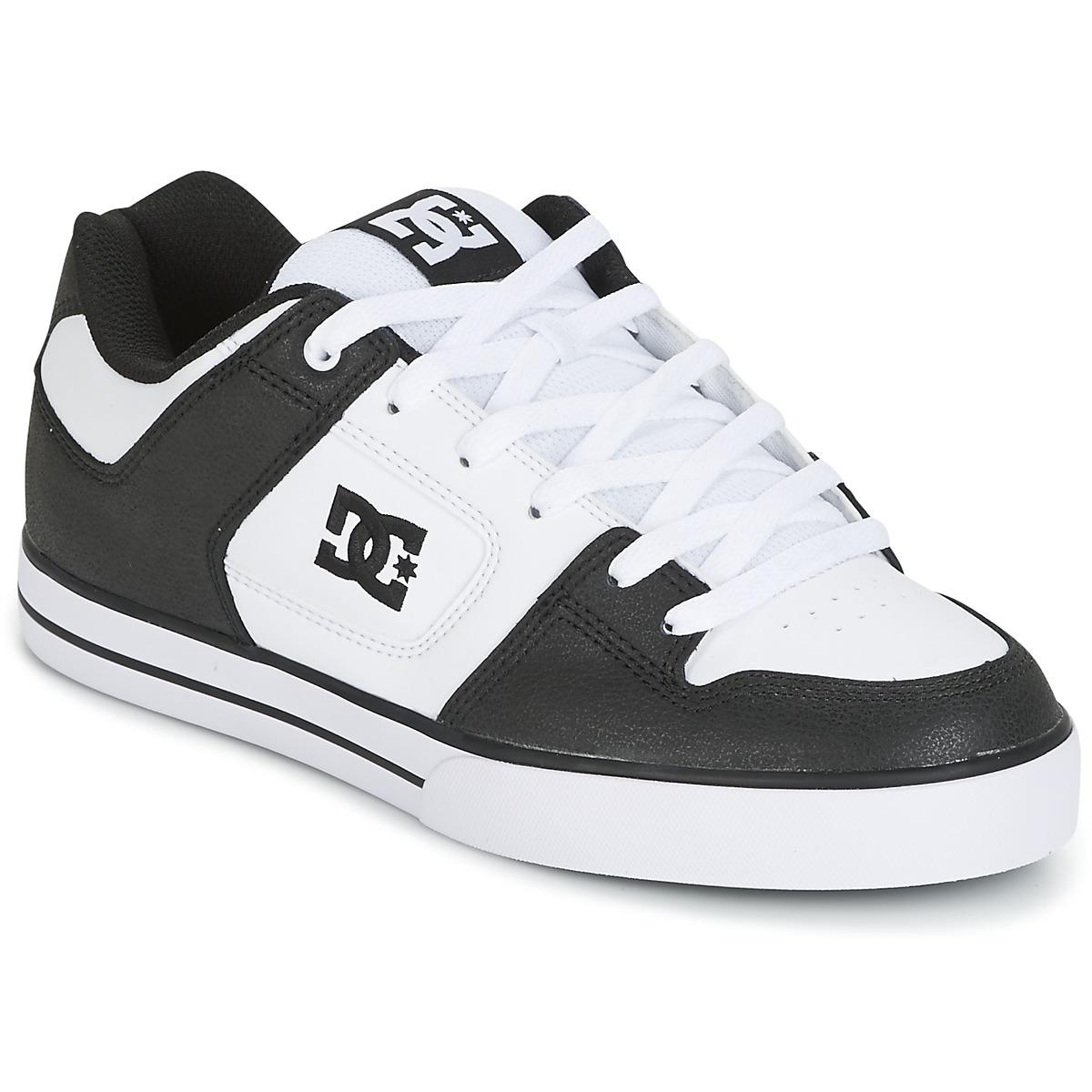 dc shoes pure men 39 s skate shoes trainers in black in black for men lyst. Black Bedroom Furniture Sets. Home Design Ideas