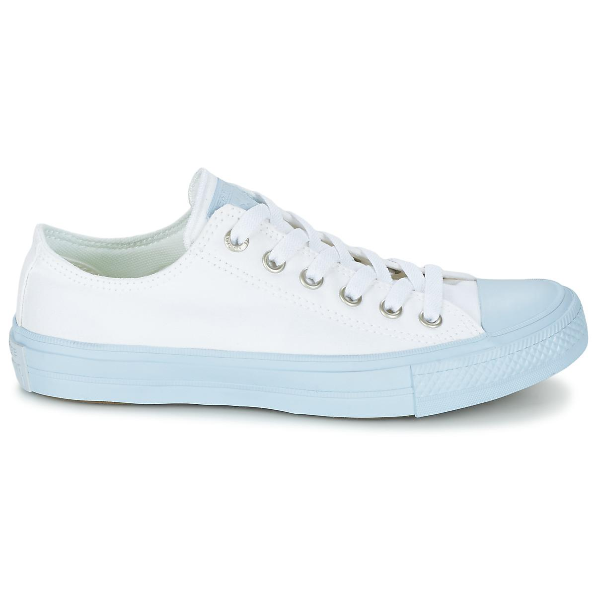 Converse Chuck Taylor All Star Ii Pastel Midsoles Ox Women's Shoes (trainers) In Blue